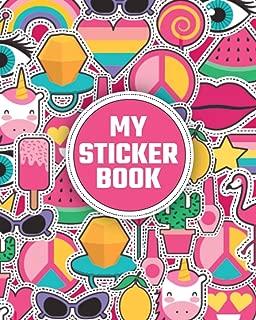 My Sticker Book: Blank Sticker Album, Sticker Books For Boys And for girls 4-8 Blank, Blank Sticker Collection Books, Sticker Collecting Book, Pop art shape stickers (volume)