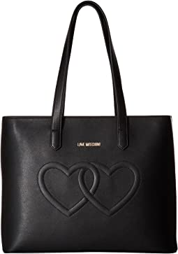 Embossed Heart Tote Bag