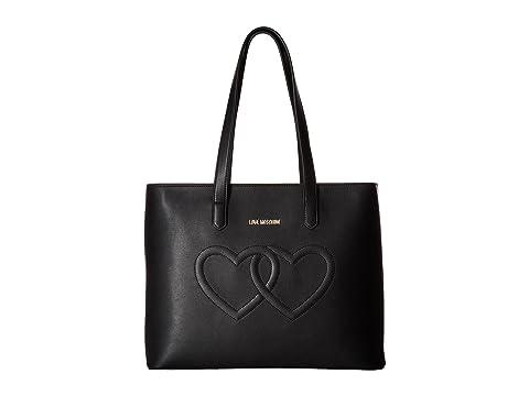 LOVE Moschino Embossed Heart Tote Bag