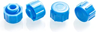 Dispense All - Easy Grip Syringe Tip Cap - Luer Lock, Blue, Non-Sterile (10)