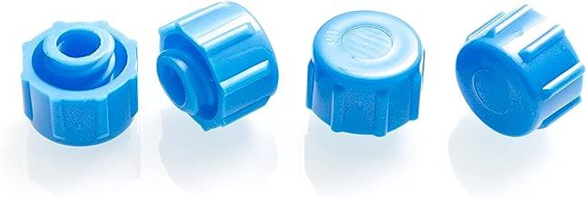 Dispense All - Easy Grip Syringe Tip Cap - Luer Lock, Blue, Non-Sterile (50)