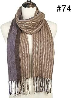 New Winter Women Plaid Scarf Shawls Cashmere Knit Soft Lady Neck Wraps Men'S Scarves Stole