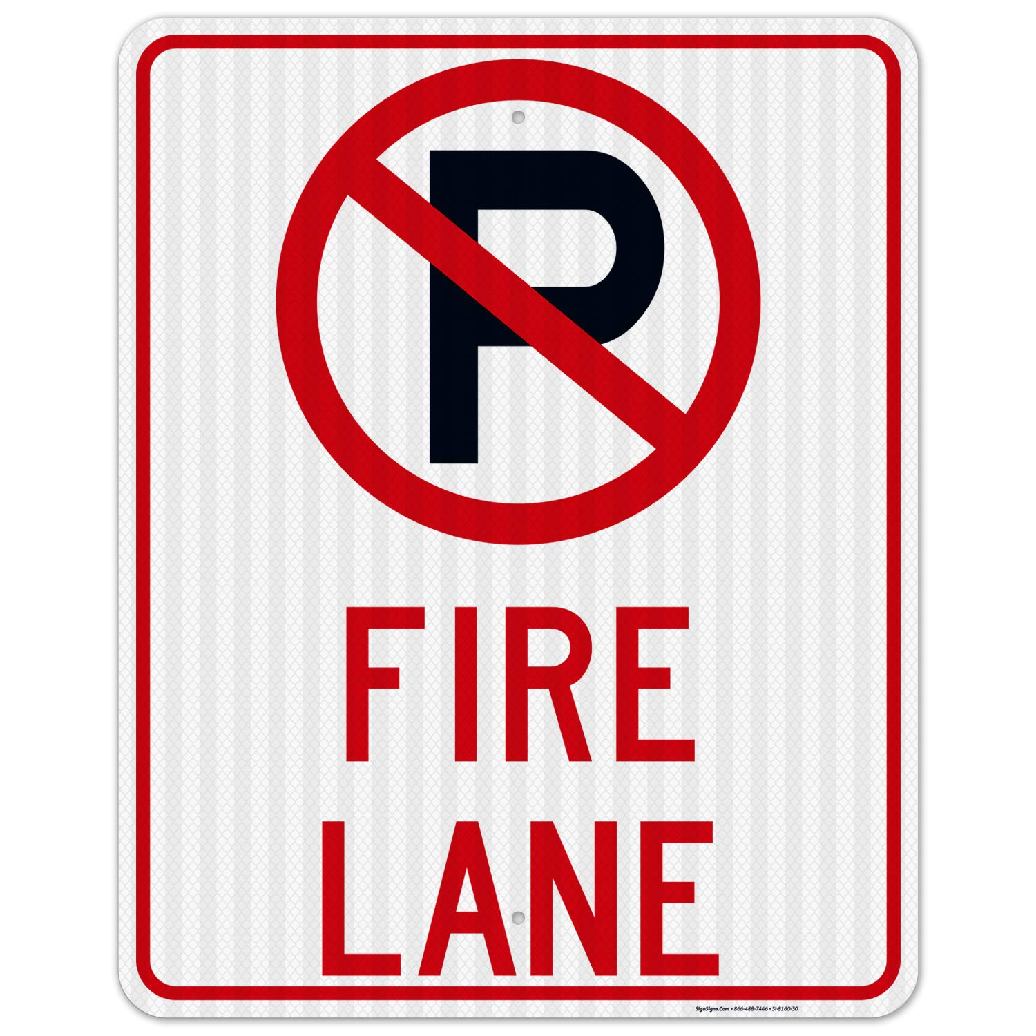 No Parking Fire Lane Free Shipping New Sign Board Reflectiv 24x30 3M EGP Sale SALE% OFF Inches