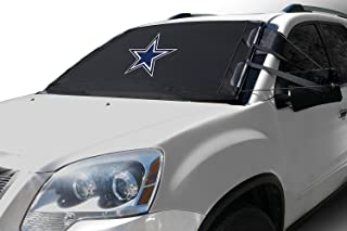 Frostguard NFL Premium Winter Windshield Cover for Ice and Snow, Dallas Cowboys | Standard Size Car Windshield Cover, Black | Fits Most Compact Cars, Sedans, Small Trucks, SUVs – 60 x 40 Inches