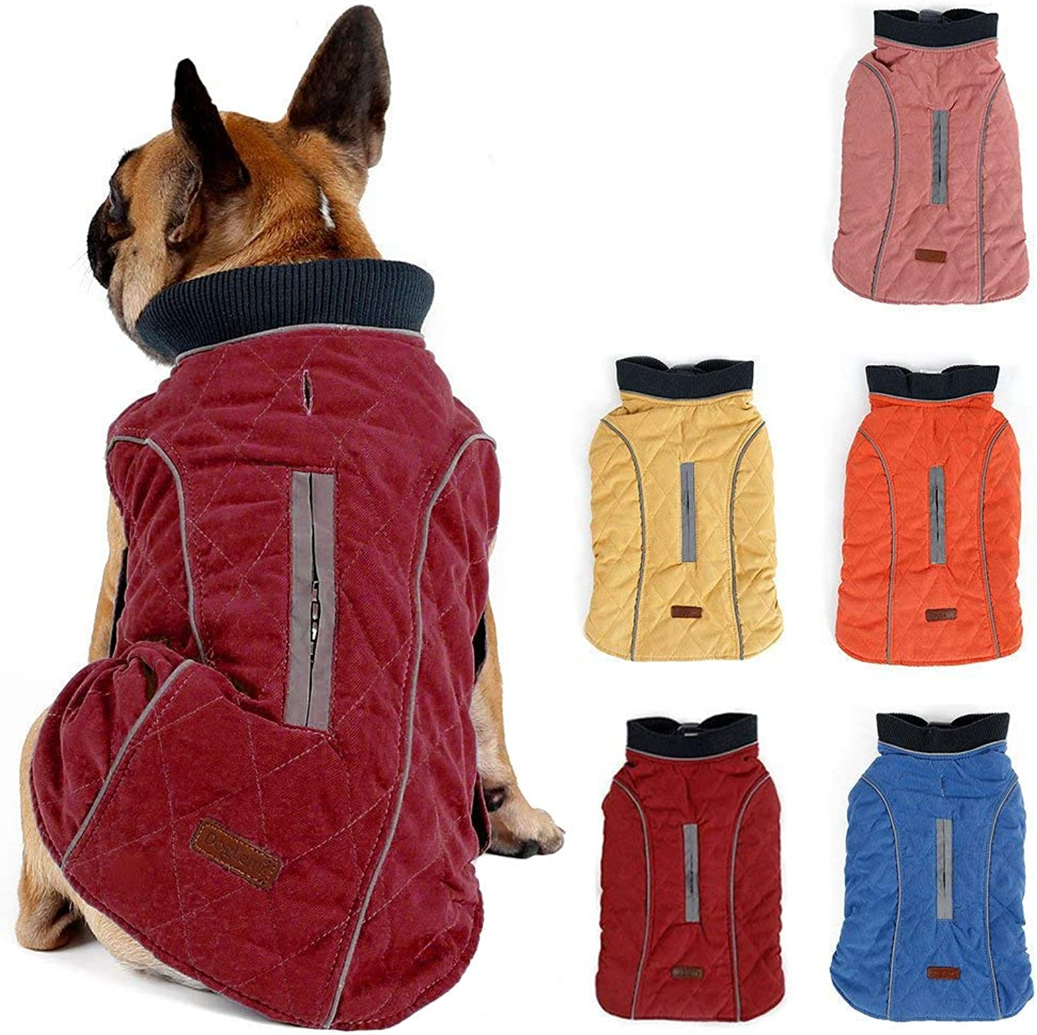 Cold Winter Dog Pet Coat Jacket Vest Warm Outfit Clothes for Small Medium Large Dogs Red XS