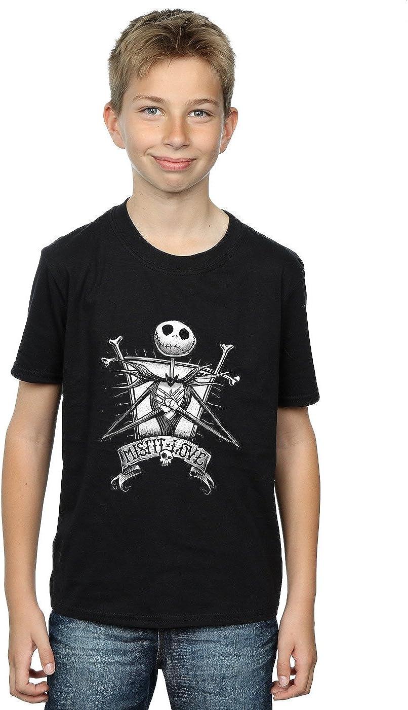 Disney Boys Nightmare Before Christmas Misfit Love T-Shirt 7-8 Years Black
