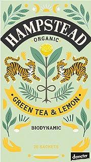 Hampstead Tè Verde Biologico e Biodinamico con Limone - 1 x 20 Bustine di Tè 40 Grammi