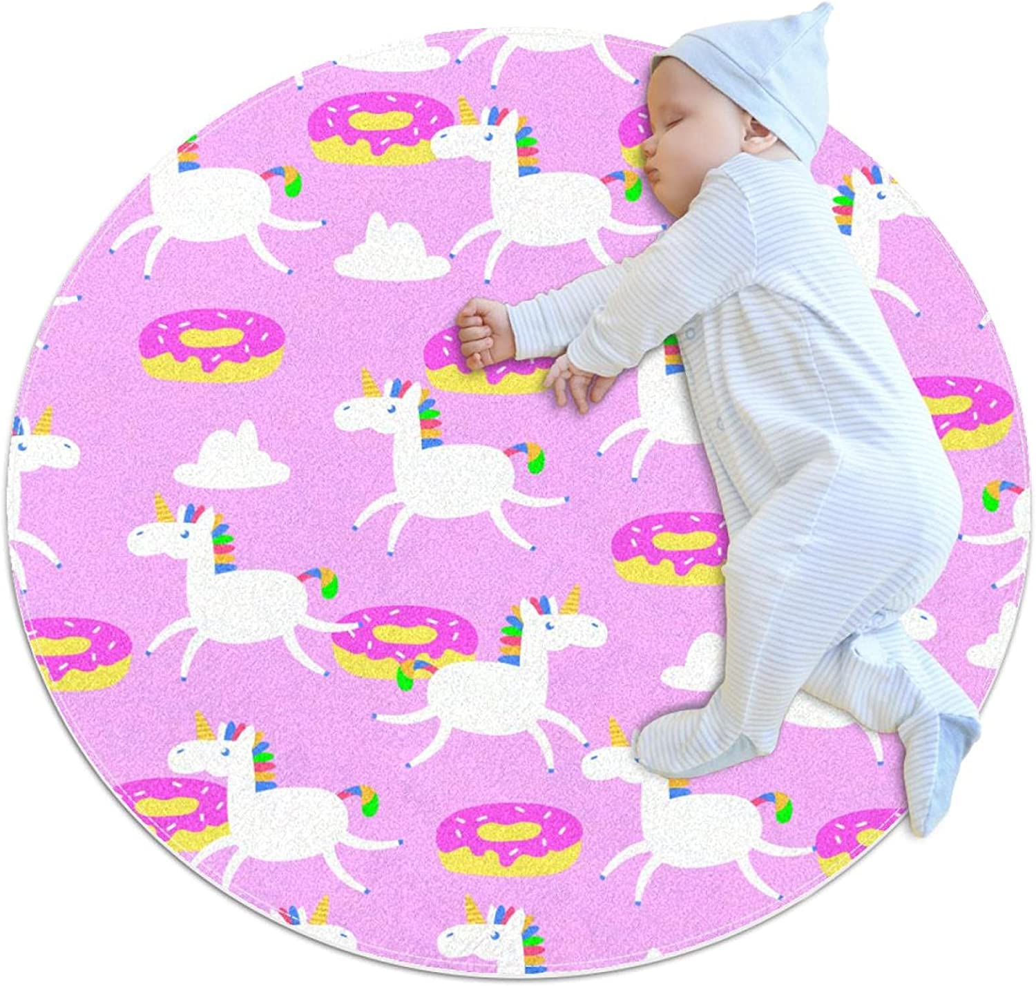 Pink Unicorn OFFicial Super Special SALE held mail order Polyester Kids Crawling Non-Slip Educational N Mat