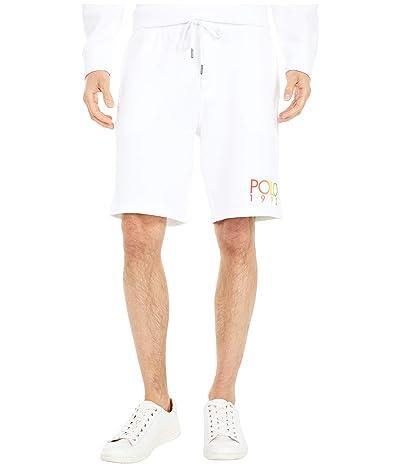 Polo Ralph Lauren Lightweight Fleece Shorts (White) Men