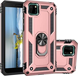 MOONCASE Y5p Case, Hybrid 2 in 1 Case PC + TPU Rugged Armor with Kickstand Shockproof Protective Cover for Huawei Y5p 5.45...