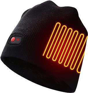 Autocastle Men Women Rechargeable Electric Warm Heated Hat Winter Battery Heat Skull Beanie