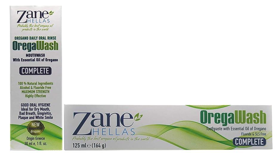 急降下郵便番号専らZane Hellas Oregawash Complete Toothpaste-Mouthwash