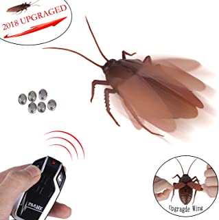 Greatstar 【Upgraded Version 2018】 Infrared Remote Control Realistic Fake Cockroach RC Prank Toy Insects Joke Scary Trick For Party Or Christmas&Halloween Gift
