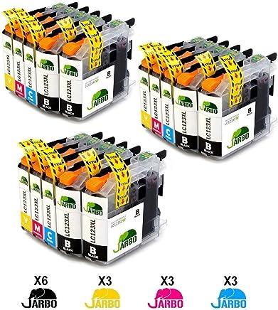 JARBO LC123XL Alta capacidad Cartuchos de tinta Reemplazo para Brother LC123 Compatible con Brother DCP-J132W J152W J552DW J752DW J4110DW, MFC-J245 J470DW J870DW J6520DW J6920DW J4410DW J4510DW