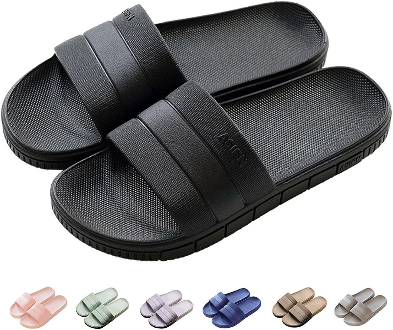 FLY HAWK Springaa sommar sommar sommar Unisex Household Slipper Casual Anti -Slips Soft Par Slippers, svart, USA kvinnor 7.5 -8.5  Män 6 -7  bästa rykte