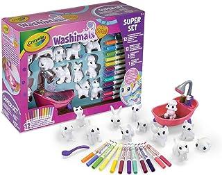 CRAYOLA 74-7321-E-000 Washimals Pet Super, kreatywny zestaw do majsterkowania kolorowania, zestaw prezentowy z zmywalnymi ...