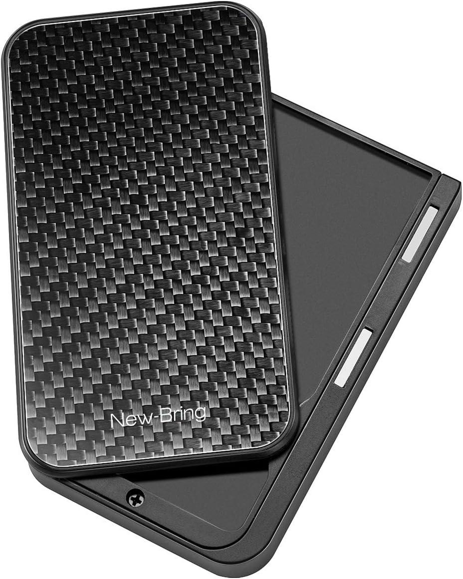 New-Bring Slide Wallet Flip Credit Card Holder Wallet for Men and Women Slim Minimalist Front Pocket RFID Wallet with Band as Money Clip. (carbon fiber)