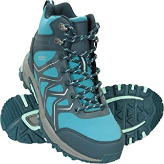 Mountain Warehouse Byzantine Womens Waterproof Vibram Boots - Flexible Softshell Upper Ladies Shoes, Padded Tongue & Ankle...