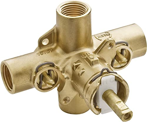 discount Moen 2590 Rough-In Posi-Temp Pressure Balancing Cycling Shower Valve outlet sale outlet online sale with Stops, 1/2-Inch IPS online