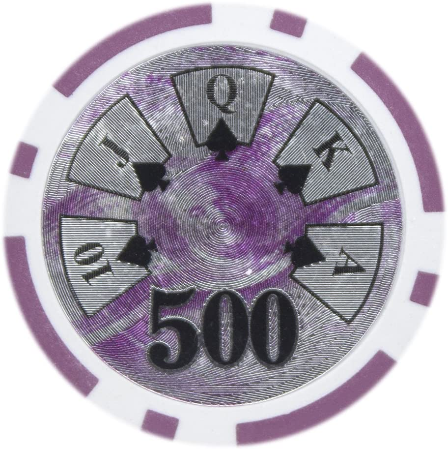 Pack of 50 Brybelly Ben Franklin Poker Chip Heavyweight 14-Gram Clay Composite