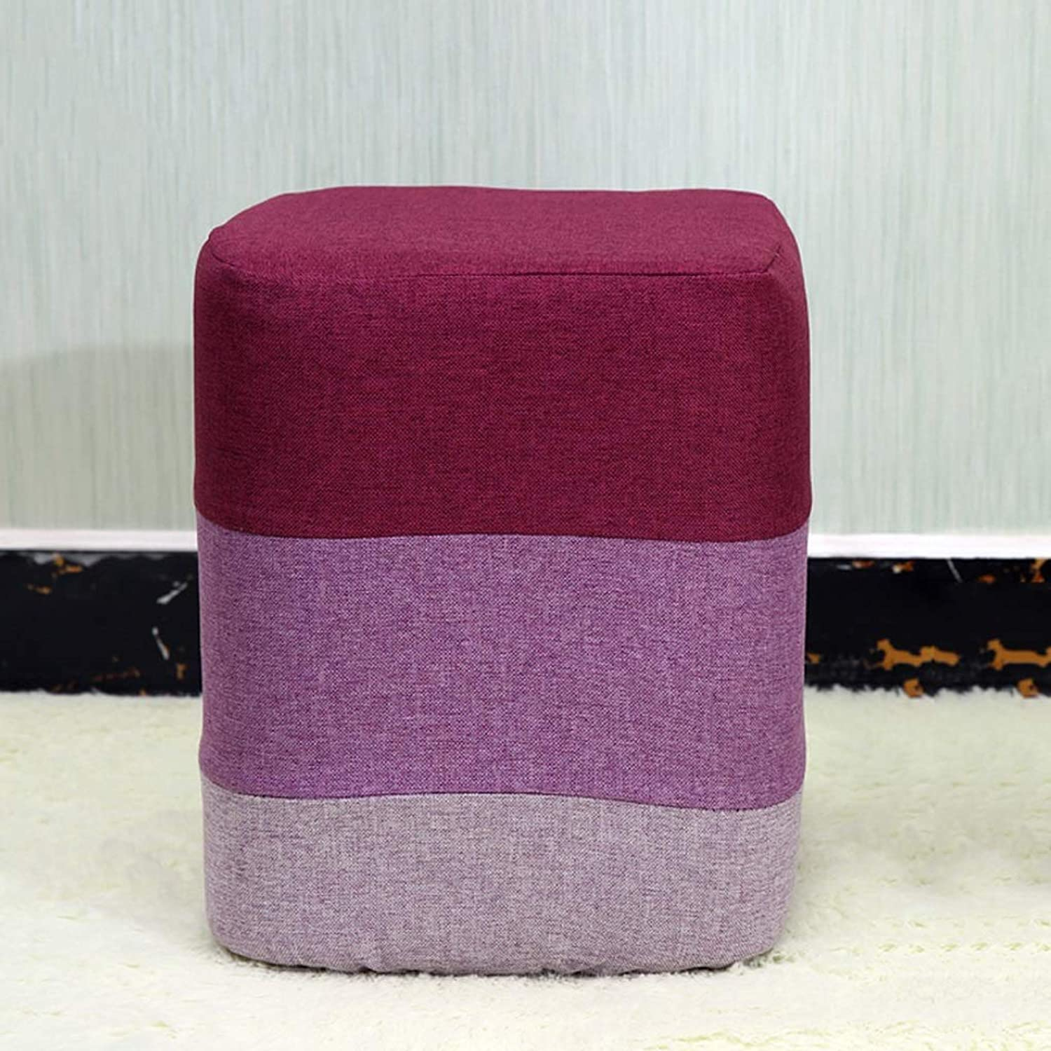 CQ Square Stool color Stool Fabric Household Adult Bench Small Chair Stool shoes Bench shoes Bench Sofa Bench
