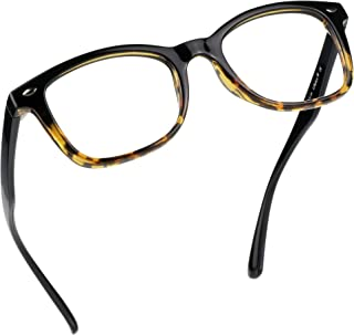 LifeArt Blue Light Blocking Glasses Women/Men Computer Reading Glasses Square Tortoise +1.00