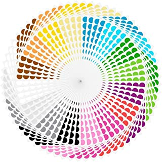 "Round Dot Stickers, 3/4"" Diameter Color Coding Labels, 4480 Pieces Stickers, 16 Colors"