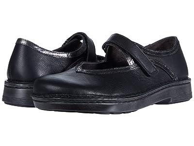 Naot Ainsa (Soft Black Leather/Metallic Onyx Leather) Women