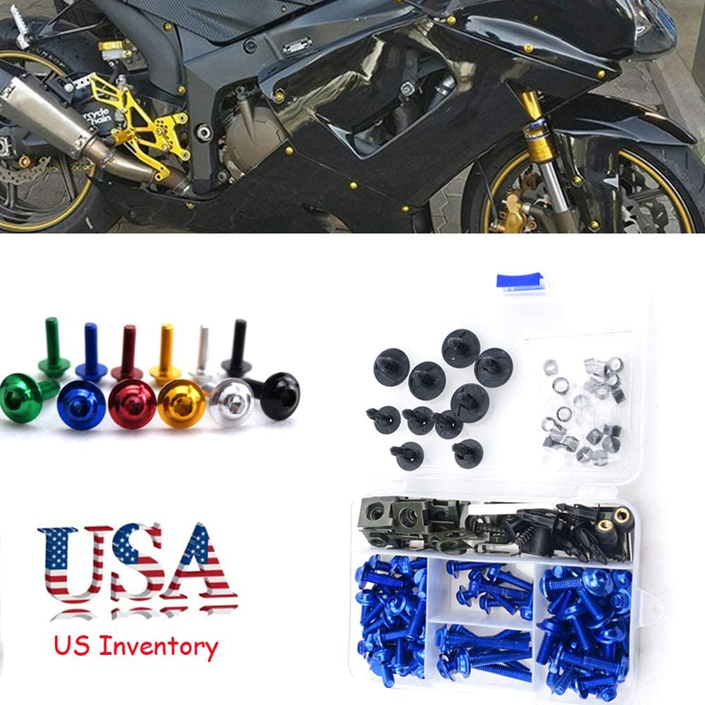 Complete CNC Fairing Bolt Kit Body Japan Maker New Our shop OFFers the best service M5 Screws For M6 Yamaha Black