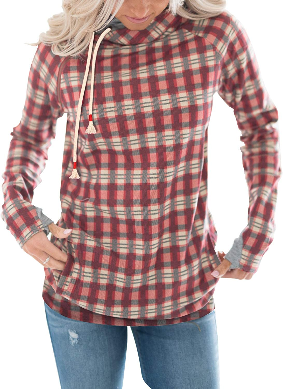 Aleumdr Women's Long Sleeve Tie Dye Sweatshirts Casual Pullover Hoodies Tops with Pocket(S-XXL)