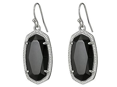 Kendra Scott Dani Earrings (Rhodium/Black) Earring