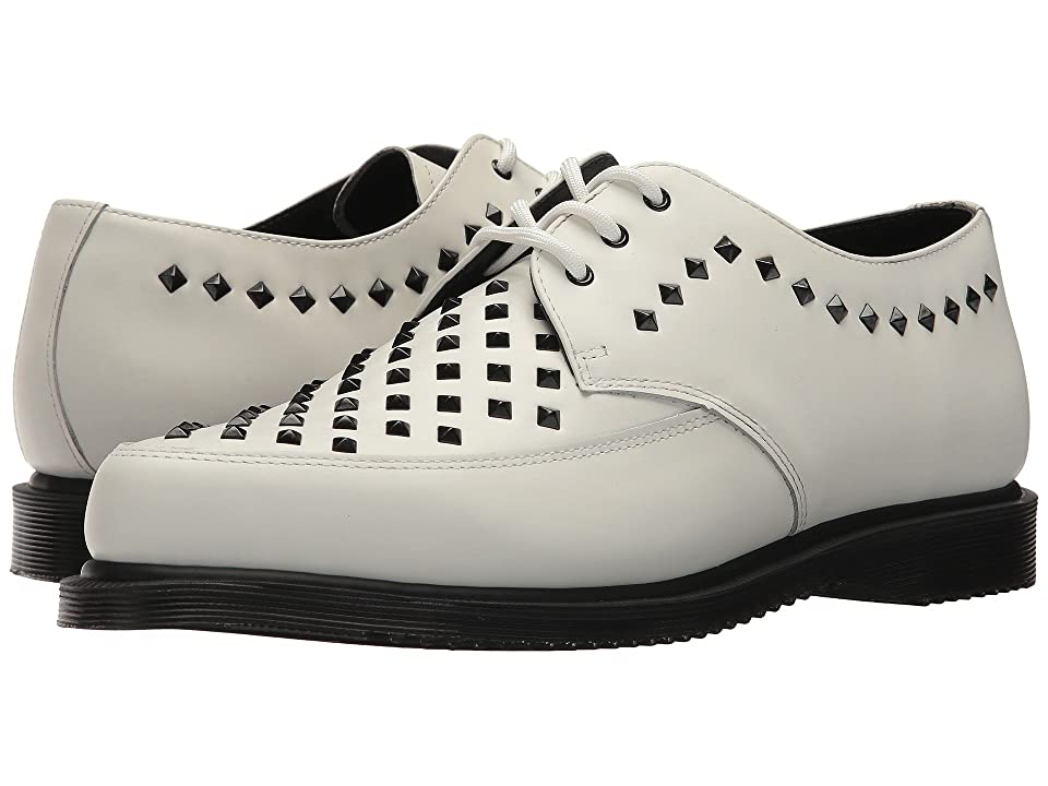 Dr. Martens Willis Stud Creeper (White Smooth) Boots