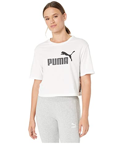 PUMA Amplified Cropped Tee (PUMA White) Women