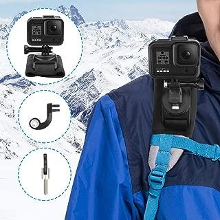 AFAITH 360度 回転式 GoPro アクセサリー アクションカメラ用 肩部用 ウェアラブルカメラ用 ストラップマウント ショルダーバックパック GoPro HERO8/7/6/5/4/3/2 fusion Xiaomi Yi