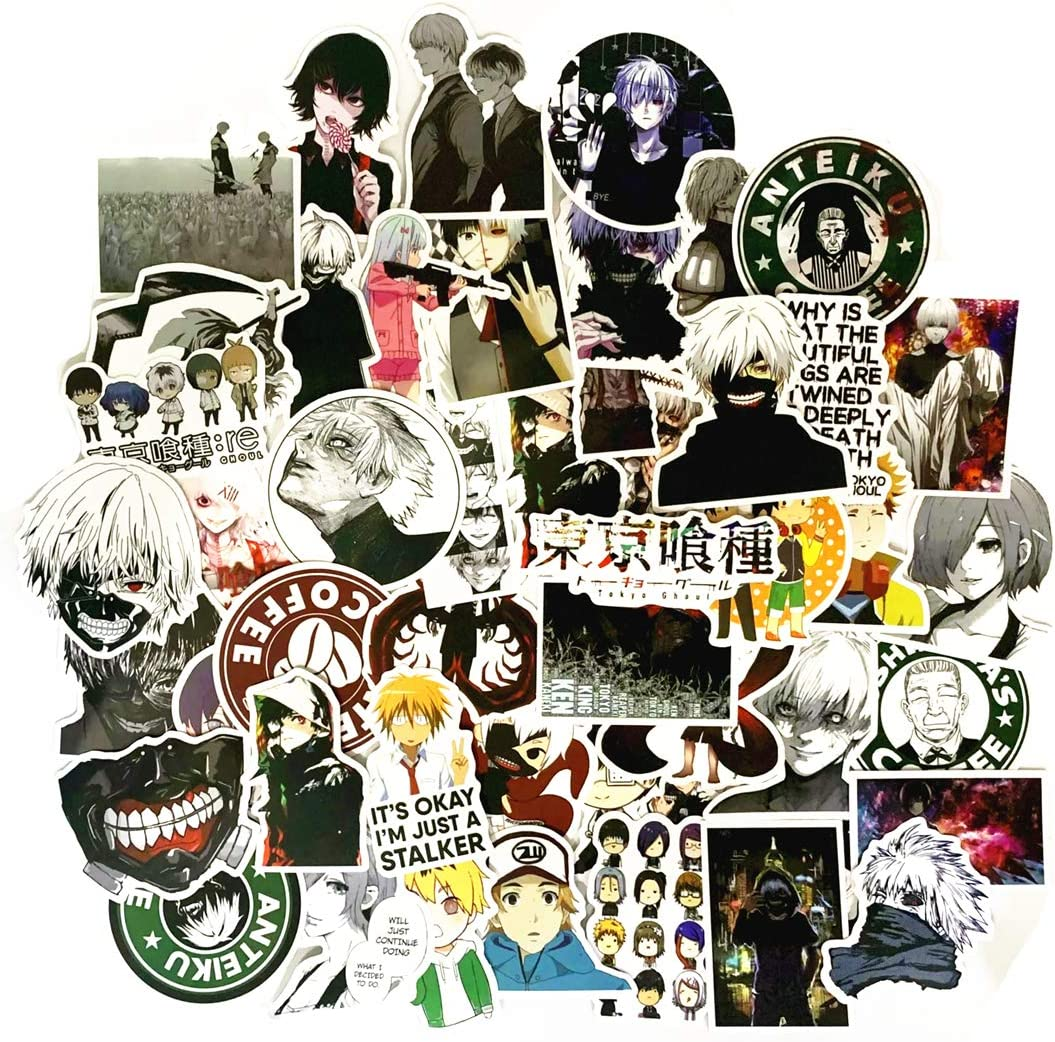 Bicycle Car Luggage Decoration 50PCS ONE Piece Stickers,Anime Stickers for Laptop Skateboards 50PCS ONE Piece Stickers Notebooks