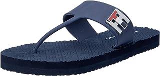 Tommy Hilfiger Women's Metal Monogram Flip Flops Thong Sandals
