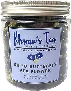 Pure Dried Butterfly Pea Flowers Blue Tea Clitoria Flower Herbal Retreat 100% Organic Nontoxic, GMO Free, 0.71 Oz.