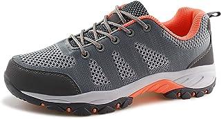 حذاء JABASIC نسائي للمشي لمسافات طويلة شبكي مسامي رياضي في الهواء الطلق (Lt.رمادي/وردي، 8)