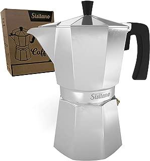 6 Cup Moka Pot - Stovetop Espresso Maker - Sisitano