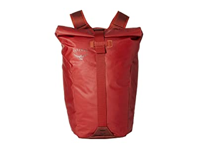 Osprey Transporter Roll Top Pack (Ruffian Red) Backpack Bags