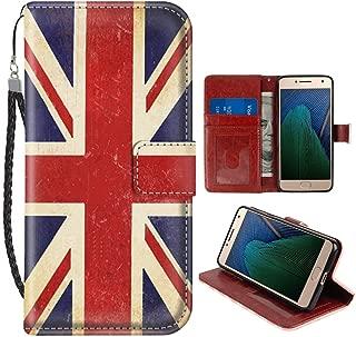 British Flag Moto G5 Plus Wallet Case for Kickstand PU Leather Card Slot Magnetic Flip Wristlet Phone Cover Motorola G5 Plus Case British Flag