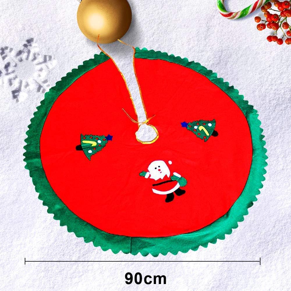 Navidad Alfombra De /Árbol Decoraci/ón De Falda De Navidad Rojo WELLXUNK Cubierta De Base Arbol Navidad para Navidad Fiesta De A/ño Vacaciones Decoraci/ón