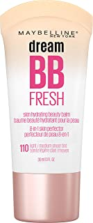 MAYBELLINE Dream Fresh Skin Hydrating BB cream, 8-in-1 Skin Perfecting Beauty Balm with Broad Spectrum SPF 30, Sheer Tint ...