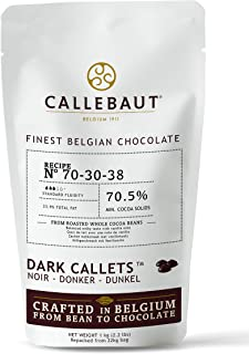 1kg Barry Callebaut Dark Chocolate Callets | 70% Cocoa | Barry Callebaut Chocolate Chips 70