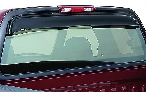 For Ford F-150 2004-2014 AVS Tape-On Sunflector Smoke Rear Window Sun Deflector