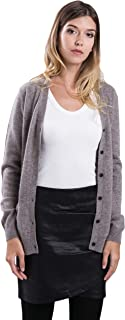 Pure Women Cashmere Cardigan Open Front Sweater with Side Pouch