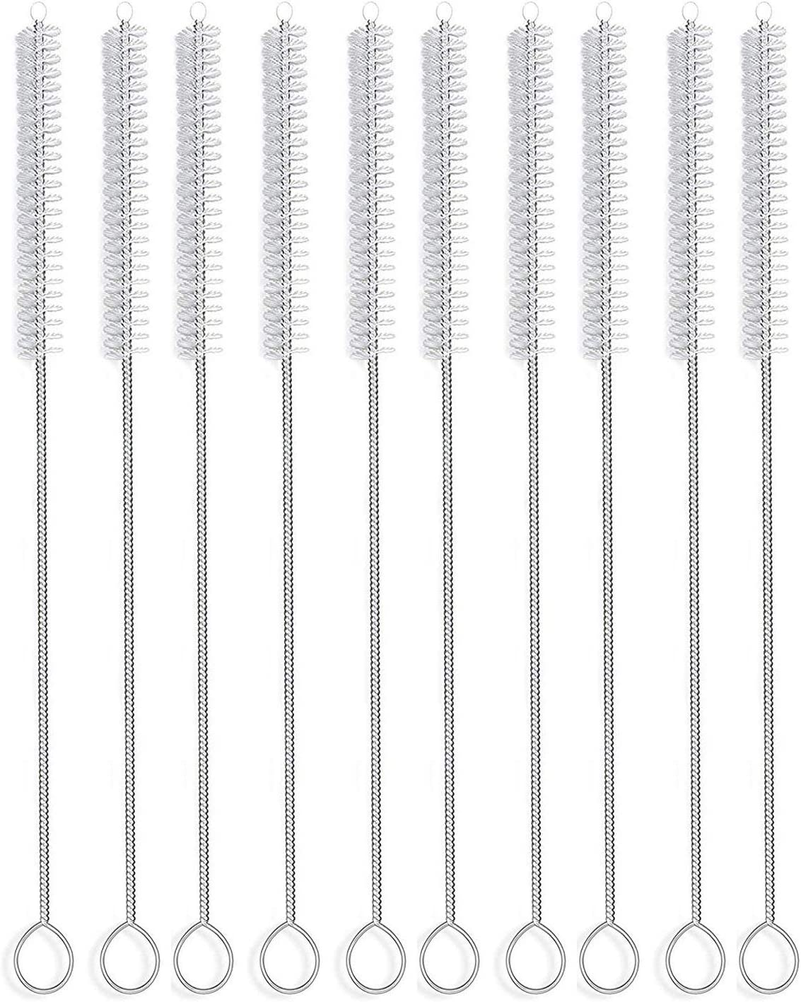 Straw Brush Nylon Pipe Tube Cleaner Be super welcome set Opening large release sale X of 2 5-inch 8.2-ihch