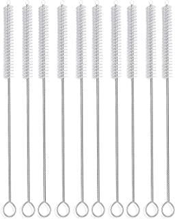 Long Straw Brush, Nylon Pipe Tube Cleaner 12-ihch X 2/5-inch set of 10