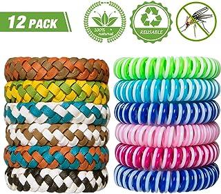 YHmall 12 PCAK Bracelets Anti-Moustiques Répulsifs à Moustiques Repellent Huile..