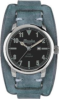 Mondia Italy 1946 Aviator Mens Analog Japanese Quartz Watch with Leather Bracelet MI749-2CP
